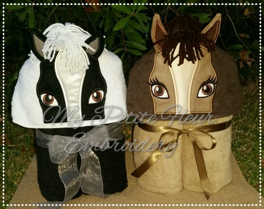 4 X 4 3d Girl Boy Horse Designs My Petite Fleur Designs