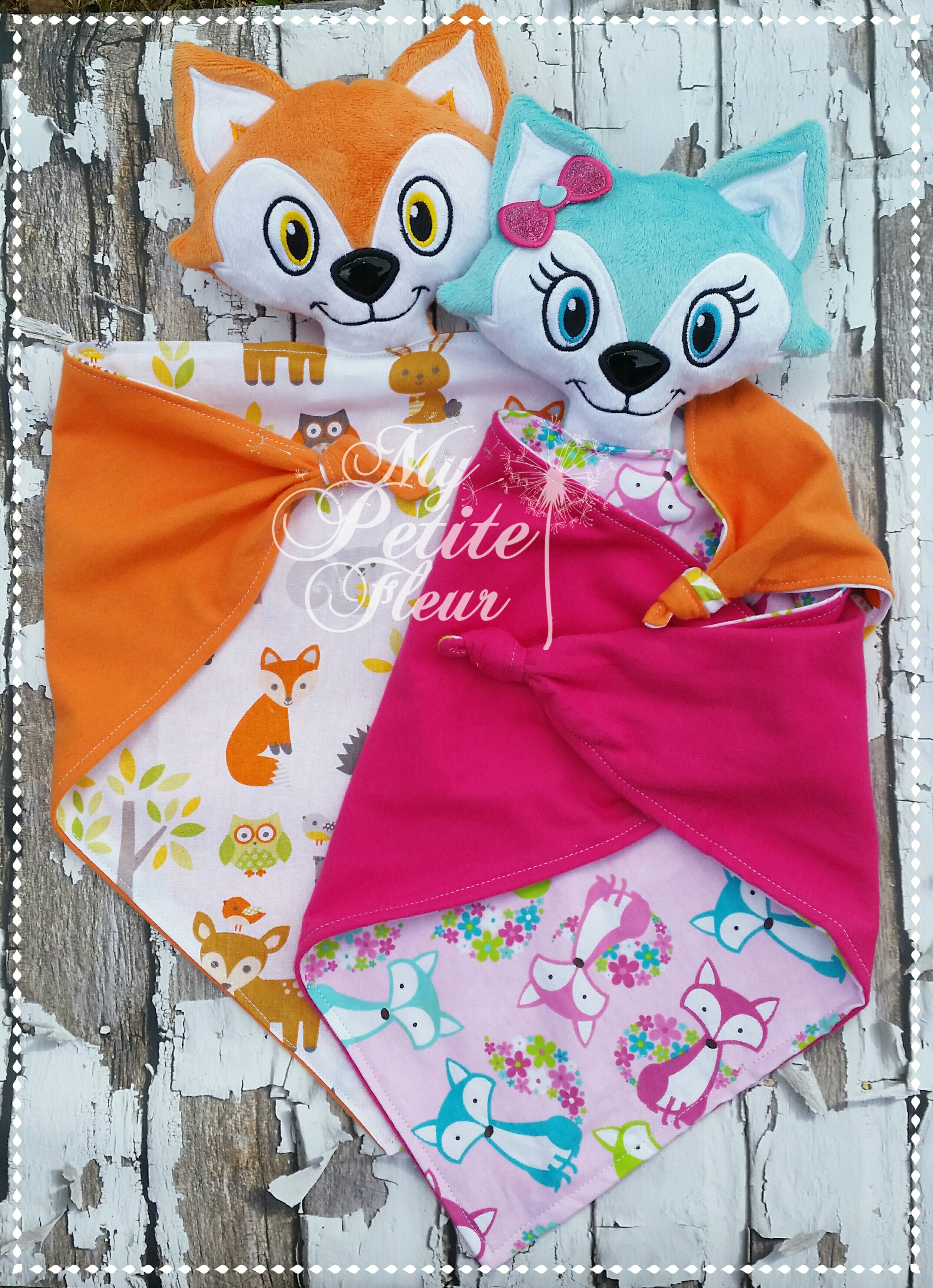 Boy Amp Girl Fox Lovey My Petite Fleur Designs